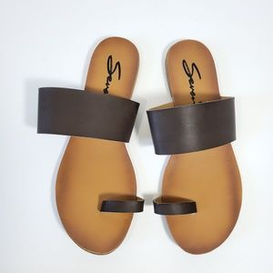 7 For All Mankind Leather Sandals